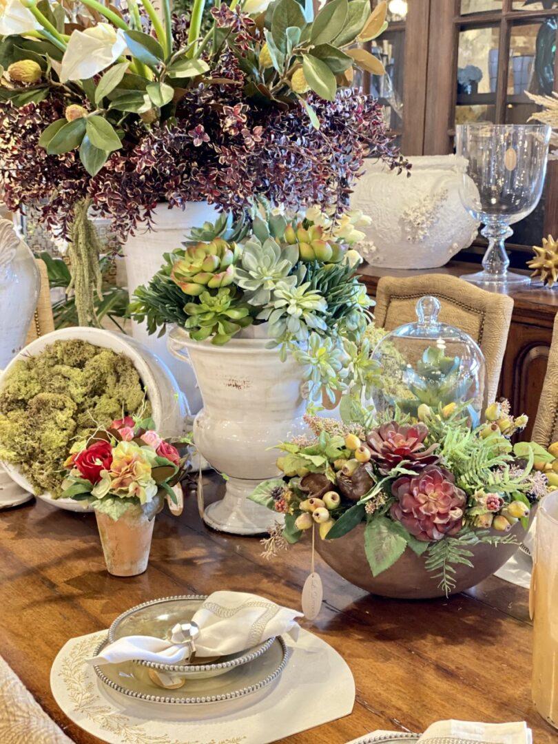 Custom Floral Table Setting