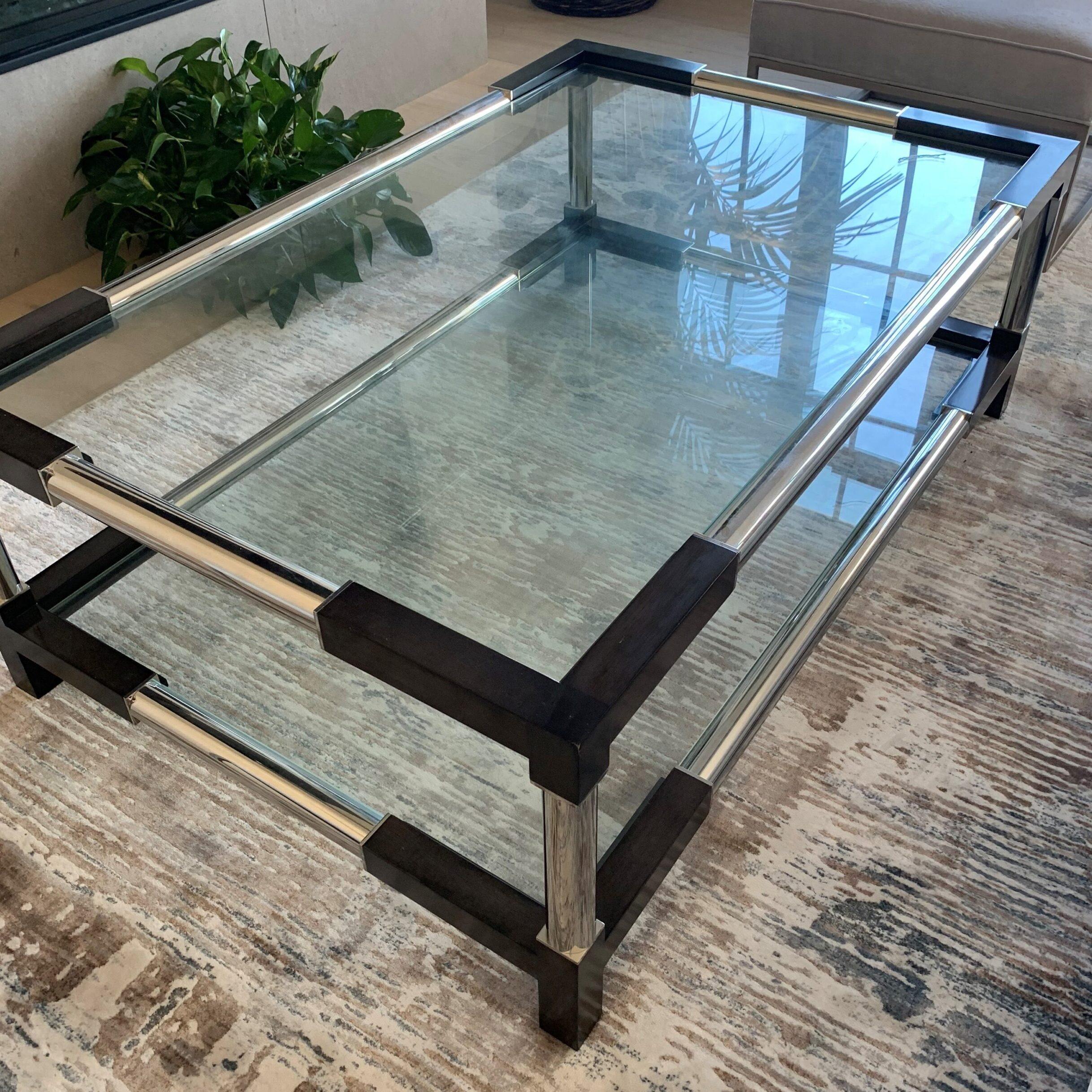 """Bernhardt Glass Cocktail <br> Retail $1499<br> Sale $2400<br> Dimensions <br>54""""W 34"""" D 18""""H"""