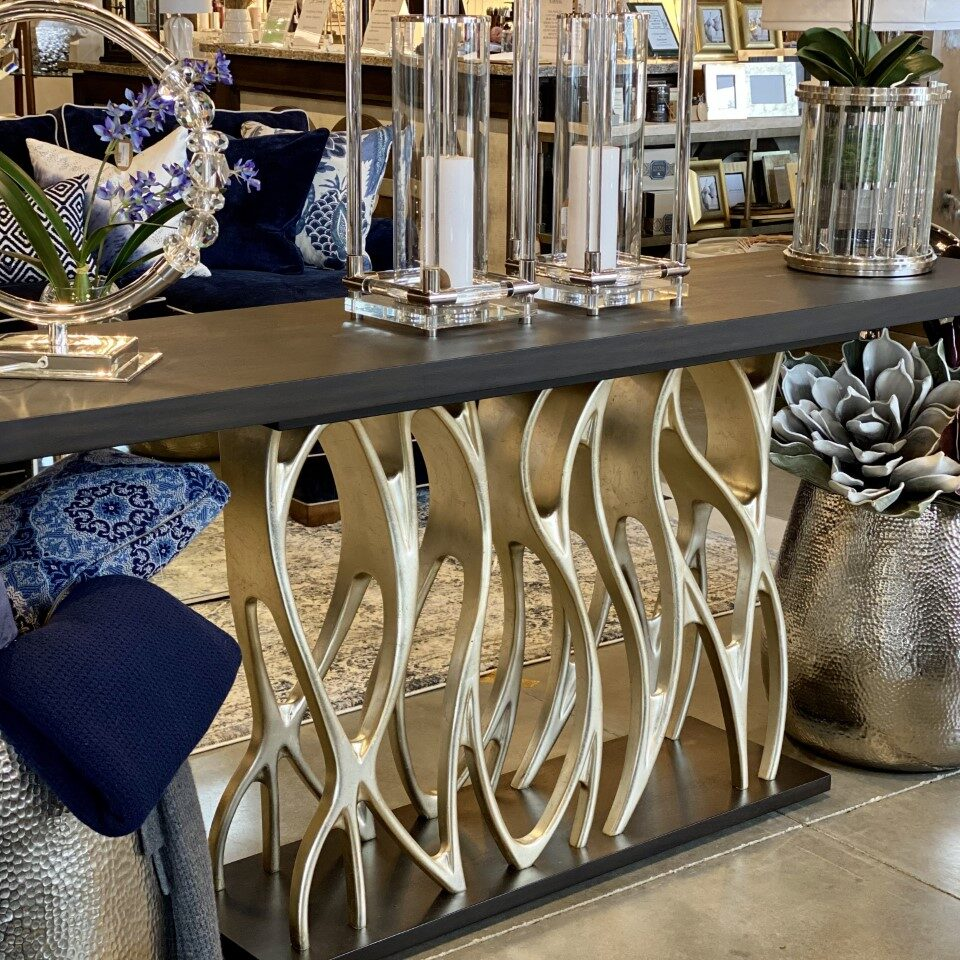 """Lily Koo Console <br> Retail: $5,385<br> Our Price: $3,995<br> Dimensions<br> 79""""W x 35.5""""H x 20""""D"""